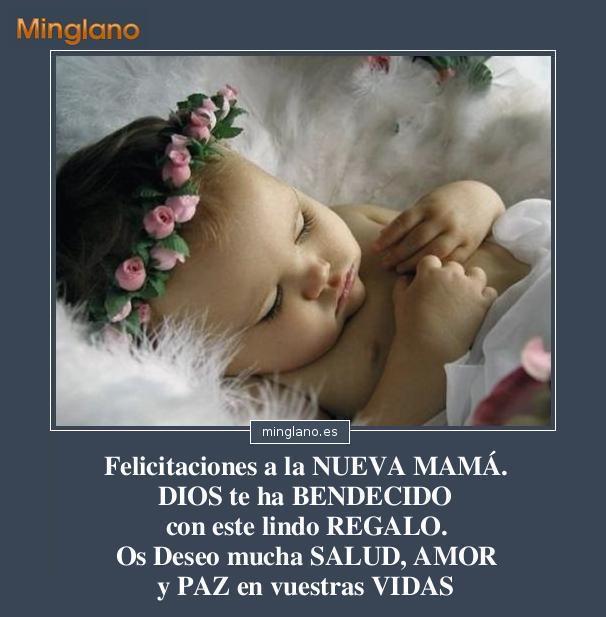 FELICITACIONES a la NUEVA MADRE por su BEBÉ
