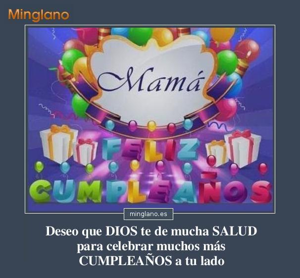 Felicitaciones para el cumpleaños de una madre