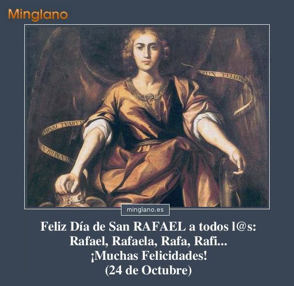 Felicitaciones para San Rafael