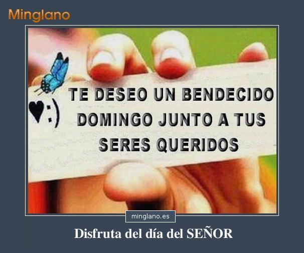 FRASES de BENDECIDO DOMINGO