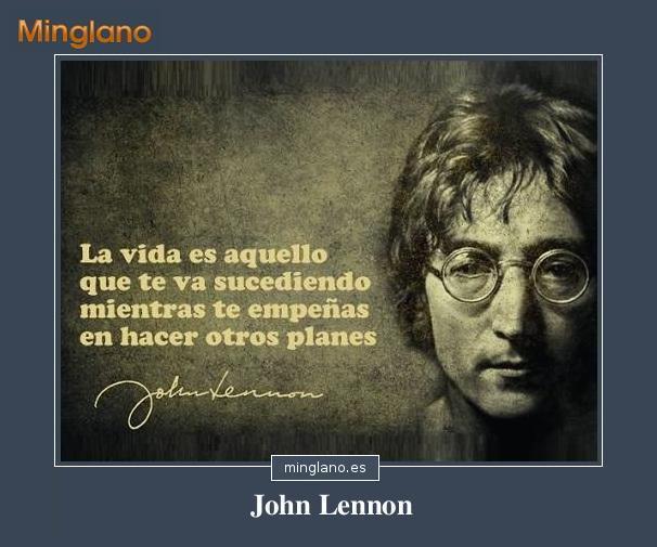 FRASES de JOHN LENNON sobre la VIDA
