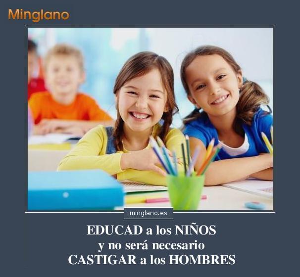 FRASES de PITÁGORAS sobre EDUCACIÓN