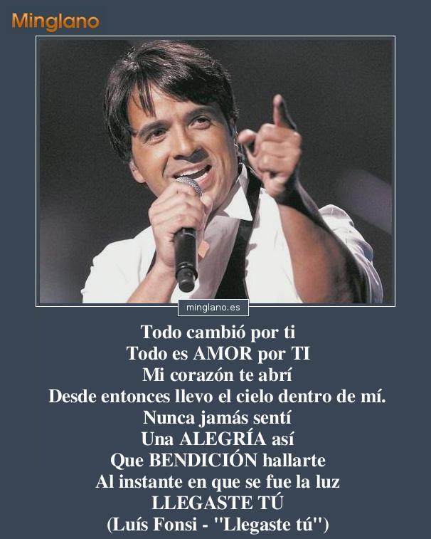 Frases de canciones de amor de Luís Fonsi