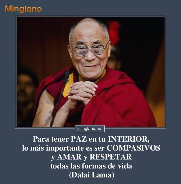 FRASES sobre la PAZ INTERIOR del DALAI LAMA