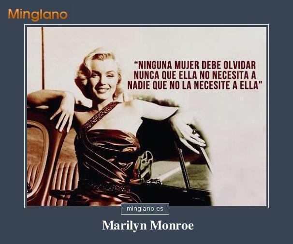 FRASES FEMINISTAS de MARILYN MONROE