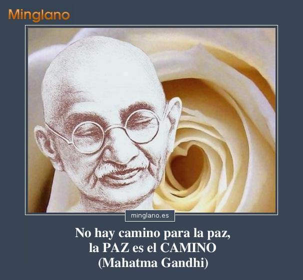 Frases pacifistas de Mahatma Gandhi