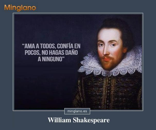 Frases de WILLIAM SHAKESPEARE - Buscalogratis.es