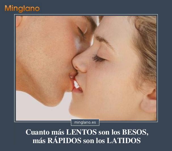 FRASES sobre BESOS LENTOS y ROMÁNTICOS