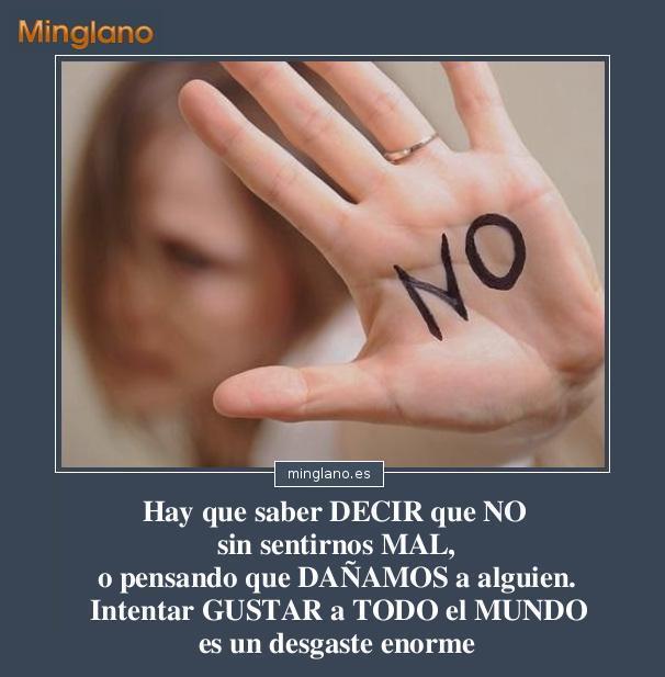 FRASES sobre DECIR NO CUANDO es NO