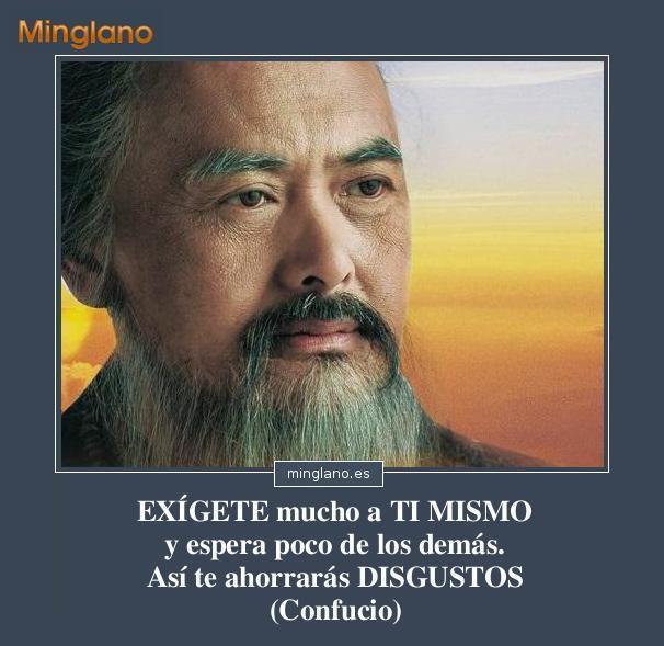 Frases de Confucio sobre exigirse a uno mismo