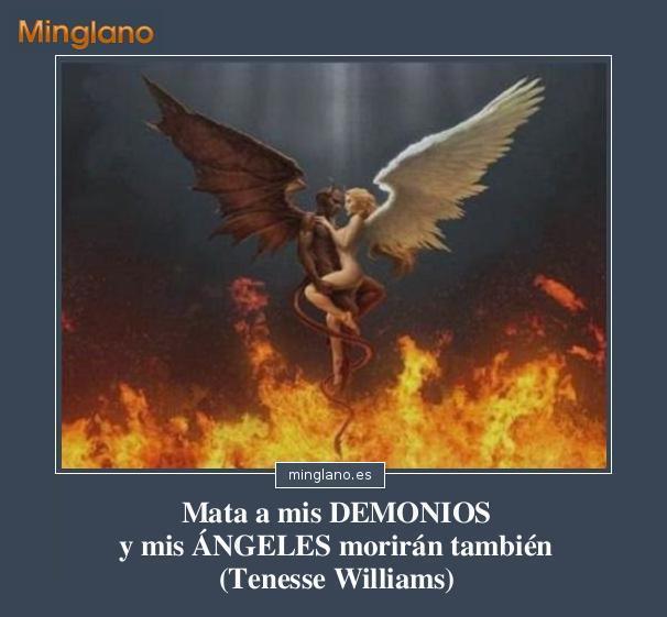 FRASES sobre ÁNGELES y DEMONIOS