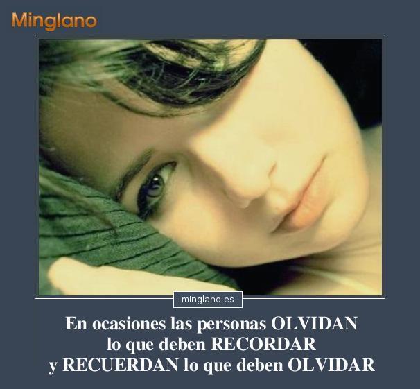 FRASES sobre OLVIDAR y RECORDAR