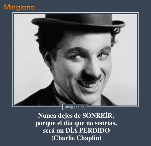 Frases de Charles Chaplin sobre sonreirle a la vida