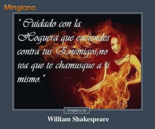 Frases de William Shakespeare sobre vengarnos de los enemigos