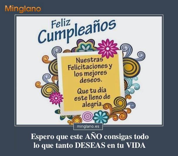 Frases De Buenos Deseos Para Cumpleaños