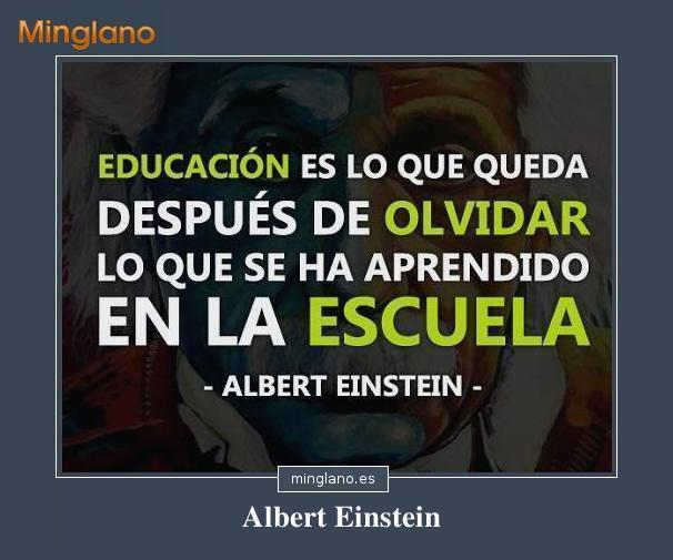 FRASES de EINSTEIN sobre EDUCACIÓN