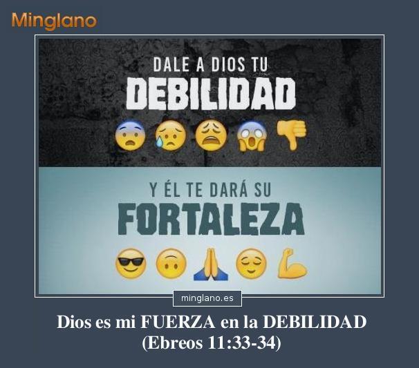 FRASES de la FORTALEZA de DIOS