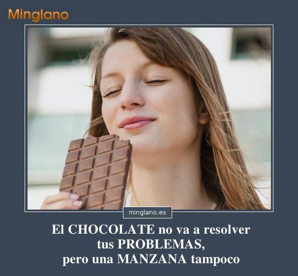 FRASES DIVERTIDAS CHOCOLATE