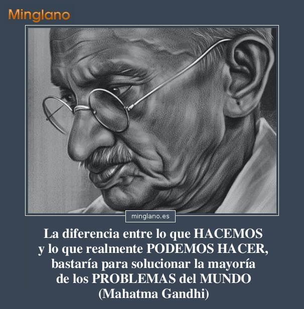 Frases de Mahatma Gandhi sobre los problemas del mundo