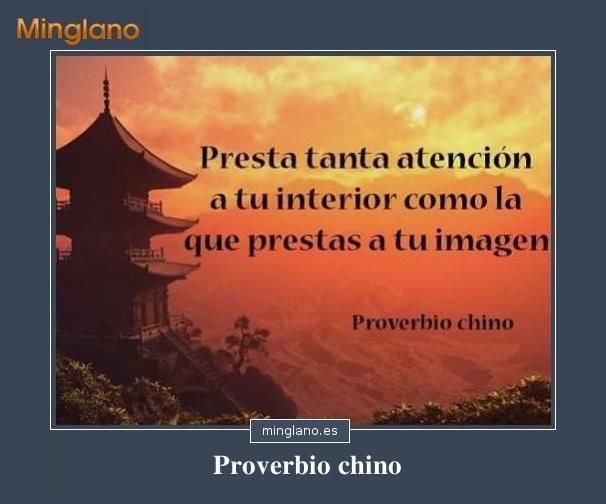 PROVERBIO CHINO sobre el INTERIOR de las PERSONAS