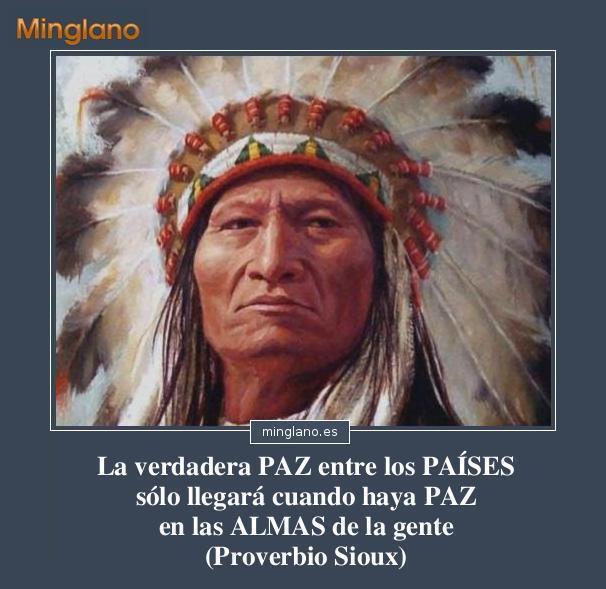 Proverbios indios sioux sobre la paz