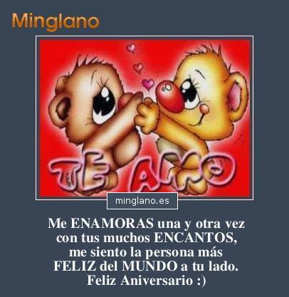 SMS de ANIVERSARIO de ENAMORADOS