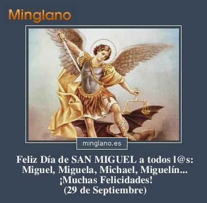 FELICITACIONES para el DÍA de SAN MIGUEL