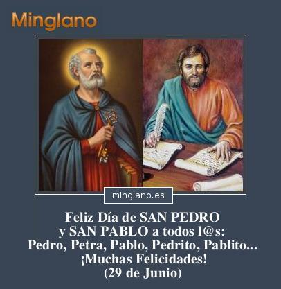 FELICITACIONES para DÍA SAN PEDRO y SAN PABLO