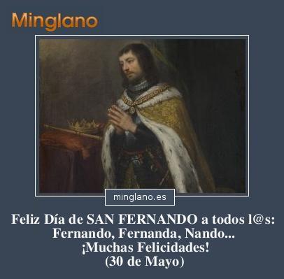 FELICITACIONES para SAN FERNANDO