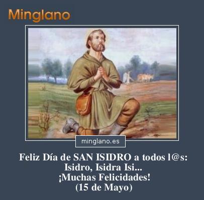 FELICITACIONES para SAN ISIDRO