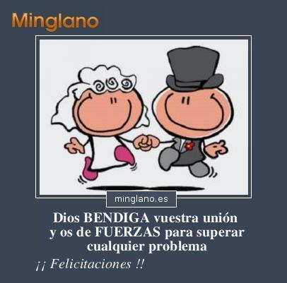 Felicitaciones de boda católica