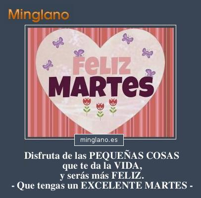 FRASES BONITAS para HOY MARTES