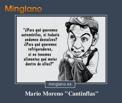 FRASES CÉLEBRES de MARIO MORENO CANTINFLAS