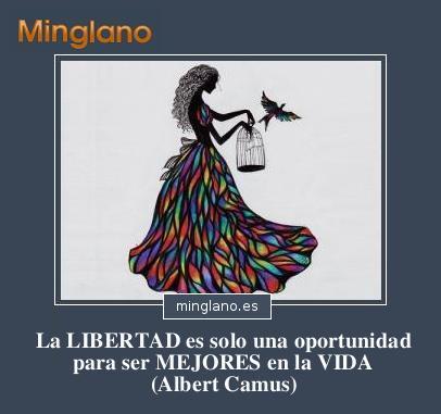 FRASES de ALBERT CAMUS sobre la LIBERTAD