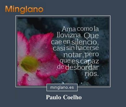 FRASES de AMOR de PAULO COELHO con IMÁGENES