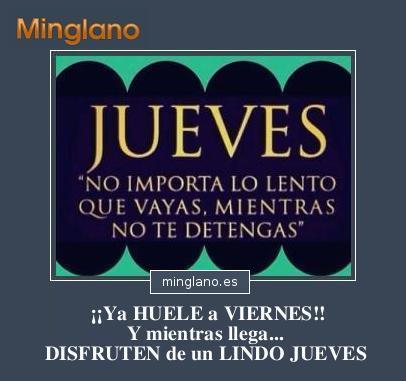 FRASES de JUEVES CASI VIERNES
