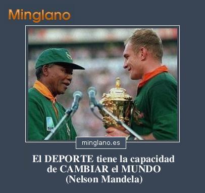 FRASES de NELSON MANDELA sobre el DEPORTE