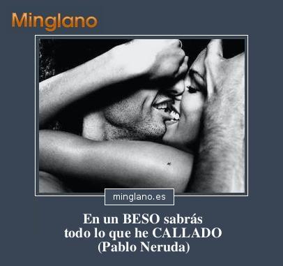 FRASES de PABLO NERUDA saobre los BESOS