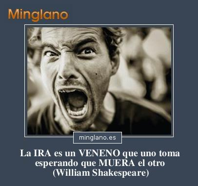 FRASESE sobre la IRA de WILLIAM SHAKESPEARE