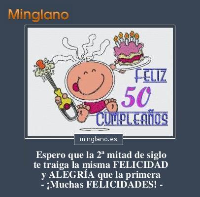 FRASES para FELICITAR 50 CUMPLEAÑOS