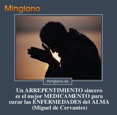 Citas célebres de Cervantes sobre el arrepentimiento