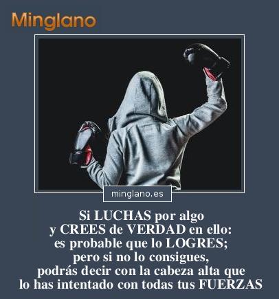 FRASES sobre CREER en ALGO y LUCHAR por ELLO