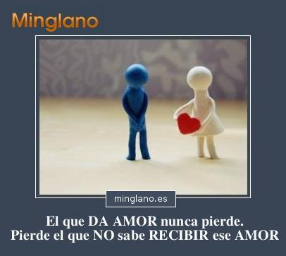 FRASES de DAR y RECIBIR AMOR