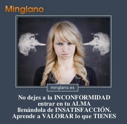 FRASES sobre la INCONFORMIDAD y la INSATISFACCIÓN