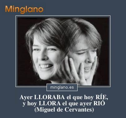 REFRANES sobre LLORAR y REÍR