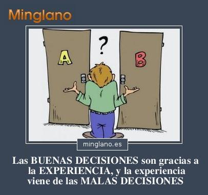 FRASES sobre las BUENAS y las MALAS DECISIONES