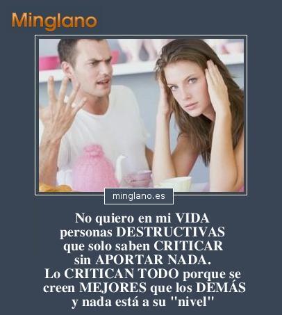 FRASES sobre las PERSONAS CRITICONAS
