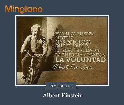 FRASES de ALBERT EINSTEIN sobre la VOLUNTAD