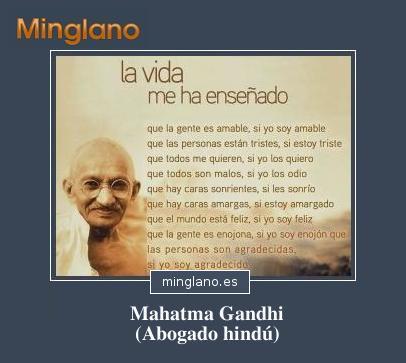 FRASES CÉLEBRES de MAHATMA GANDHI sobre la VIDA
