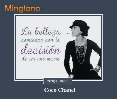 FRASES de COCO CHANEL sobre la BELLEZA